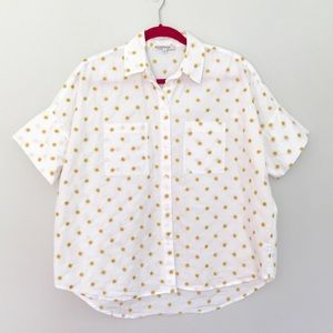 MADEWELL Daisy Button Down Short Sleeve Medium